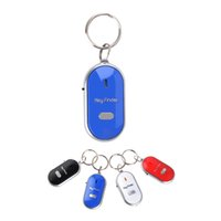 beep mobile - Smart key Finder Flashing Beeping LED With Whistle Claps Locator Find Lost Keychain Without Mobile Phone Cables KF