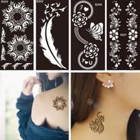 Wholesale Tattoo Stencils For Painting Make Up Tattoo Stencils Temporary Templates Pochoir Tatouage Pochoirs pour la peinture