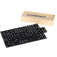 accordion blocks - 28 Set Professional Domino Game Learning Education Children Toys Fun Board Standard Domino Blocks Game Gift With Wooden Box