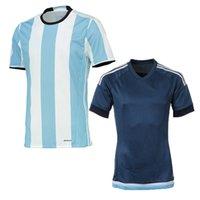 Wholesale Cheap Argentina Football Jerseys - Thai quality 2016 Argentino jersey home Away shirt MESSI MARADONA AGUERO man Argentina soccer custom jerseys Cheap football shirt set
