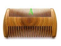 Новый карманный деревянный гребень Natural Green сандала Супер Узкая Зубная Вуд Комбс Нет Static Вши Pet Борода расческой для укладки волос Инструмент
