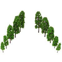 architectural model trees - Set Green Pagodo Tree Model for Train Layout Garden Scenery Landscape Architectural Model Diorama Miniatures Trees Model