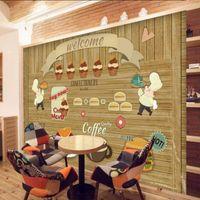 art backing board - D Stereo Custom Coffee Cake Board Wall Lobby Living Room Bedroom Wallpaper Art Painting High Quality Restaurant Mural