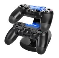Wholesale Black Dual USB Charger Charging Stand Station Dock for PS4 Wireless Controller Dualshock