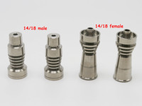 Wholesale Two function Domeless Titanium Nail Ti Nail mm mm Male mm mm female Grade GR2 Titanium Nail fits Wax Dab HoneyComb dome