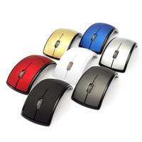 arc folding mouse - High Quality Foldable Folding G Buttons Wireless Touch Optical Mouse Mice ARC Shaped Moon Style USB