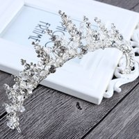 Wholesale 2017 Wedding Bridal Crown Elegant Silver Hair Accessories Baroque Princess Vintage Crystal Shiny Rhinestone Headwear Handmade Factory Sale