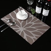 Wholesale 4 weave Placemat Sunflower dining table mat disc pads bowl pad coasters waterproof table cloth pad slip resistant pad