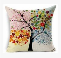 automotive material - Cotton and linen material Decorative Pillow Green tree of life automotive household Fashion pillows six design can choose