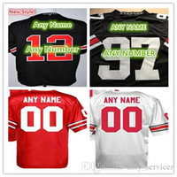 Rugby best college football jersey - Best Stitched Personalized Custom Any Name Any Number Ohio State Buckeyes College Rugby Football Jerseys Red White Black Sports Shirts