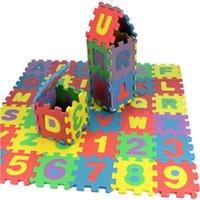 age mat - 36pcs set Unisex Mini Puzzle Age Kid Educational Toy Alphabet A Z Letters Numeral Foam Mat For Children