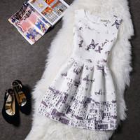Wholesale Chritmas Bridesmaid Dresses Lady Jacquard Printed Butterfly Sleeveless Vest Dress Backing Puff Princess Dress Vestidos De Festa Dresses