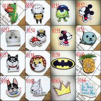 asian backpacks - Packing Cute Emoji Smile Animal Dog Acrylic Pin Badge Clothes Badges Backpack Beautify Icons Shoes Package Icon Brooch Muti s