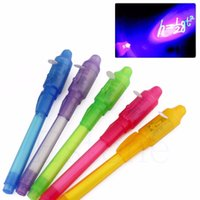 Wholesale in Creative Stationery UV Invisible Ink Fluorescent Pen Secret Magic Pen