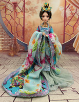 Girls ancient chinese dolls - 30cm Handmade Chinese Ancient Costume Doll Jointed Doll Bjd Princess Dolls Girls Toys Girlfriend Birthday Valentines Gift