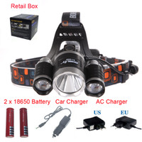 battery outdoor lamps - good price Lumen T6 R5 Boruit Head Light Headlamp Outdoor Light Head Lamp HeadLight Rechargeable by x Battery Fishing Camping