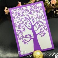 Wholesale 2017 business greeting card Invitations Cards With Hollow Out Rustic Laser Cut Invitation Card Flowers Elegant Party Invites Gift Cards