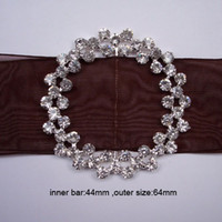 bar chair size - J0022 mm inner bar silver flower cluster round chair sash buckle made of czech stone customized size available