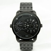 Wholesale Fashion Brand DZ Men s Big Case stainless steel band Quartz Wrist Watch dials can work