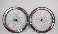 Wholesale Hot sale wheels F6R mm wheelset straight pull Powerway R36 A271 carbon hubs full carbon road bicycle bike wheels black red free gifts