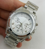 Wholesale Top Quality Fashion Brands Chronograph Silver Watch Women s Steel Bracelet Watch mm stopwatches hour Watches