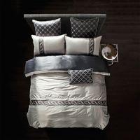 Wholesale Luxury bedding set Silk bedclothes bed linen sets queen king size Quilt duvet cover set bedsheets cotton