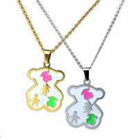 advanced boy - Hot Fashion Fashion Couple Jewelry Advanced Stainless Steel Necklace Small Animal Pattern Pendant Christmas Birthday Gift