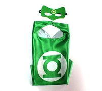 Wholesale Greenlatern kid superhero cape mask set