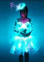 ballet dance bars - LED fluorescent ballet dance skirt glowing princess dress banquet loaded bars led luminous performance service