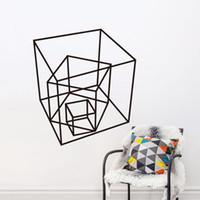 Fond d'écran Estrella Cube Série motif géométrique Produits Décoration intérieure Stickers muraux Décoration simple de mode Livraison gratuite