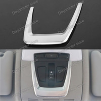 Wholesale Front Reading Lamp Light Cover decorative frame trim For BMW Series X5 X6 chrome Stick Car Styling LHD