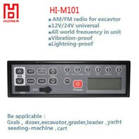 battery machinery - Hidaka v v Car AM FM audio with MP3 Player AUX IN USB LCD HI M101 Excavator Radio for Sumitomo Construction Machinery