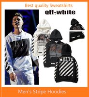 Wholesale Men s Stripe Hoodies Unisex OFF WHITE Sweatshirts Causal Autumn winter Hip Hop Cool Brand Designer Men Jesus Arrow Angel Cotton Hoodie Shirt