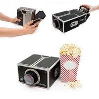 Wholesale Simple DIY Smart Phone Projector Projection Equipment Toy Cardboard Mini Projector