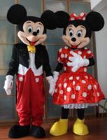 Tamaño a estrenar del adulto del vestido del traje de la mascota del ratón de Mickey Minnie 2PCS