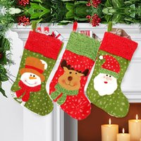 best fillers - Best Price Best Promotion Christmas Santa Sack Candy Stocking Gift Father XMAS Present Filler Sock Hang