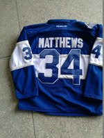Wholesale Men s Toronto Maple Leafs Auston Matthews Blue Centennial Classic Premier Player Hockey Jersey Drop Shipping Mix Order