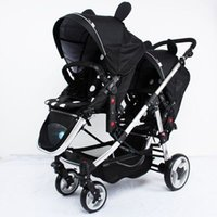 baby double pushchair - Baby Strollers for Twins Double Seats Lightweight Umbrella Stroller Folding Twin Stroller Baby Carriage Prams and Pushchairs M12