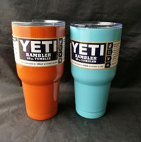 Wholesale Hot yeti cup oz Rambler YETI Coolers Rambler Tumbler Stainless Steel Double Walled Travel Mug YETI cup