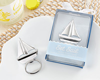 Wholesale Wedding favor Beach favor Set Sail Sailboat Bottle Opener Zinc Alloy Beer Opener Party Gifts