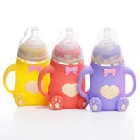 Wholesale High Quality Infant Silica Gel Feeding Bottle shatter resistance