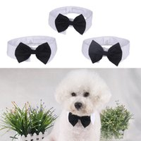 accesories for dogs - Pet Accesories Solid Pet Tie Cloth British Style for Small Dog Cat Necktie Yellow White