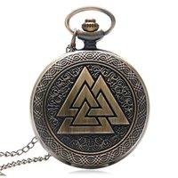 ak necklace - Bronze Fashion AK BK CK DK Quartz Pocket Watch with Necklace Men Women Gift Relogio De Bolso