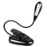 Wholesale Rechargeable Book Light LED Reading Light led Lamp with Clip On Brightness Settings Bundle Light with USB Cable