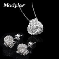 Wholesale 2016 New Fashion Engagement Jewelry Set Brand Bridal Jewelry Sets For Women Pendant Necklace Stud Earrings Wedding Jewelry Set