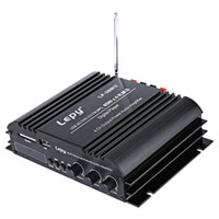 Wholesale Lepy LP FS HiFi Digital Stereo Amplifier US Plug channel Powerful Sound Compatible With Car motorcycle Computer speaker