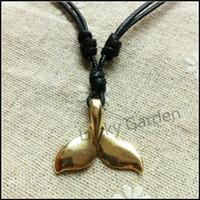 Collar pendiente de la cola de la nueva ballena personalizada 2017 Collar de moda de la sirena del metal de la joyería del encanto de la cola de Dolphi para los amantes T1002