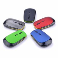 Wholesale Ultra Thin Slim Flat Ghz Wireless Computer Mouse Mice with Mini USB Receiver and Adjustable DPI Definition DPI Optical