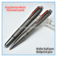 Notes ball limited edition - limited edition Rare Gray resin plating mon roller ball pen brushed surfaces and PVD coated fittings mb brand writing pen gifts