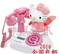 Wholesale Hello kitty Caller ID Cartoon Cute landline phone Home telephone
